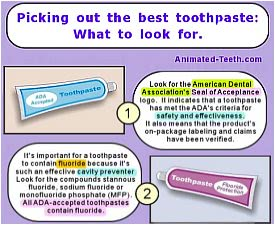 Snapshot picture of infographic: How to pick out the best toothpaste.